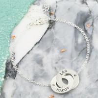 Personalised Sterling Silver Interlocking Name Bracelet