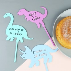 Handmade Dinosaur Acrylic Cake Topper