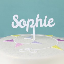 Handmade Personalised Name Acrylic Cake Topper
