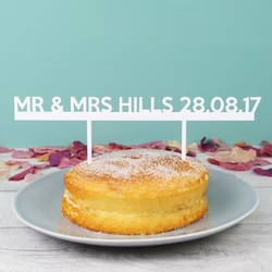 Handmade 'Mr & Mrs' Acrylic Wedding Cake Topper