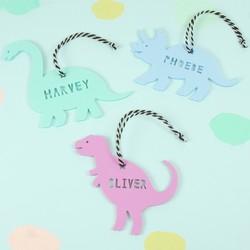 Personalised Acrylic Dinosaur Hanging Decoration