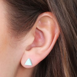 Acrylic Triangle Stud Earrings