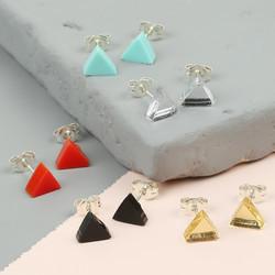Acrylic Triangle Stud Earrings