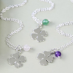 Handmade Sterling Silver Lucky Clover Necklace