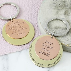 Personalised Double Disc Keyring