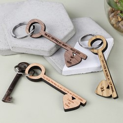 Personalised Key Shaped Keyring