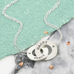 Personalised Sterling Silver Interlocking Name Necklace