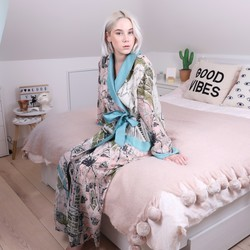 One Hundred Stars Streets of Paris Map Dressing Gown