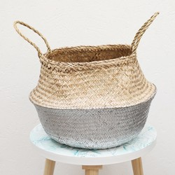 Dipped Silver Seagrass Basket