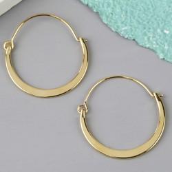 Shiny Half Hoop Earrings in Gold