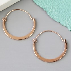 Shiny Half Hoop Earrings in Rose Gold