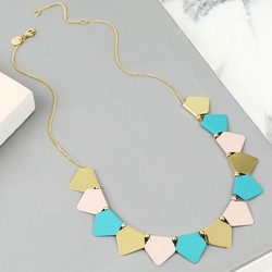 Delicate Geometric Mini Matt Bunting Necklace