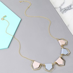 Delicate Geometric Matt Bunting Necklace