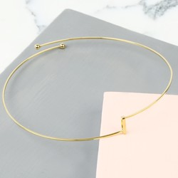 Open Geometric Metal Choker in Gold