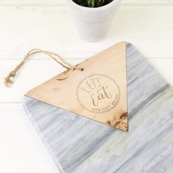 Personalised Marble and Wood Chopping Board