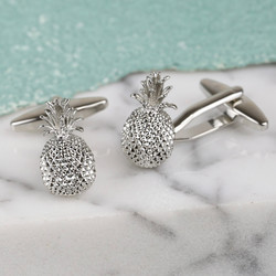 Pineapple Cufflinks in Silver