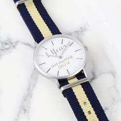 Personalised Lisa Angel Small Face Watch with Nato Strap