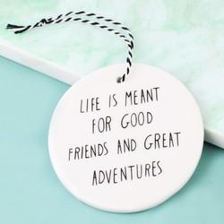 Hanging 'Great Adventures' Circle Decoration