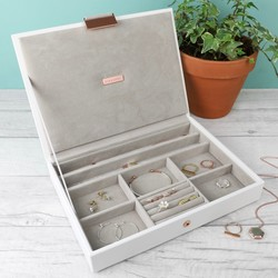 Stackers Classic Jewellery Box Lid in White
