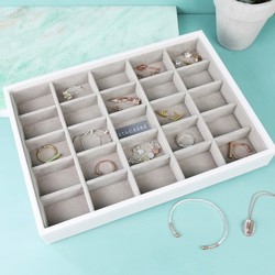 Stackers Classic 25 Section Jewellery Tray in White