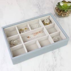 Stackers Mini 11 Section Jewellery Tray in Blue
