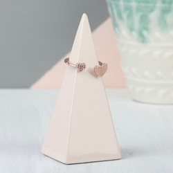Stackers Small Blush Pink Peak Ring Holder
