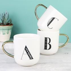 Ceramic Letter Mug