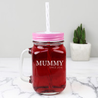 Personalised Engraved 'Family Since' Mason Jar