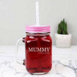 Personalised Engraved 'Mummy Since' Mason Jar