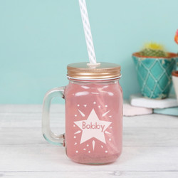 Personalised Star Small Mason Jar