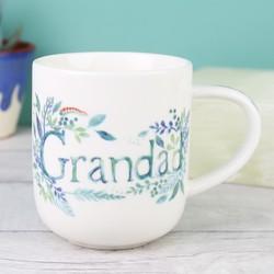 Vintage Floral 'Grandad' Mug