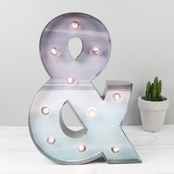 Metal and Watercolour '&' Symbol LED Light