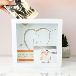 Personalised 'Be Mine' Memories Box Frame