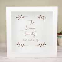 Personalised 'Family Memories' Memories Box Frame