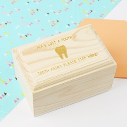 Personalised 'First Tooth' Treasure Chest Trinket Box
