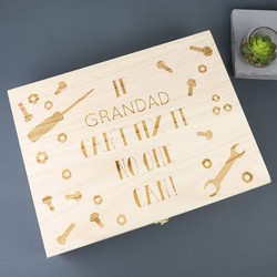 Personalised 'Fix It' Large Wooden Gift  Box
