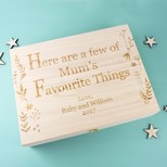 Personalised Large 'Favourite Things' Wooden Gift Box