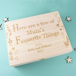 Personalised 'Mum's Favourite Things' Mother's Day Hamper Box