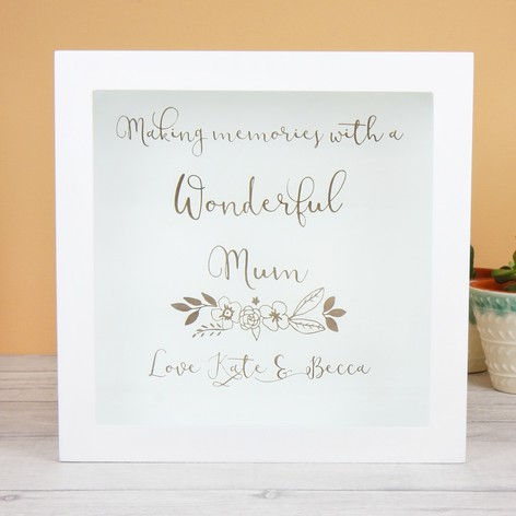 personalised wonderful mum memories box frame