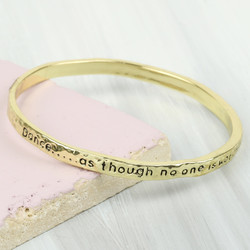 Gold 'Dance' Meaningful Word Bangle