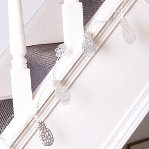 Pineapple String Lights - Silver