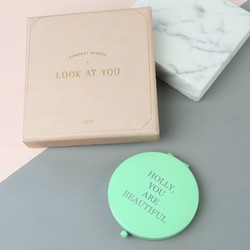 Personalised Aqua Compact Mirror