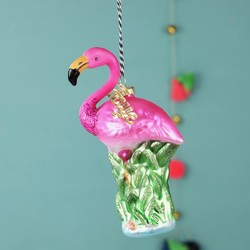Personalised Name Sparkly Flamingo Decoration