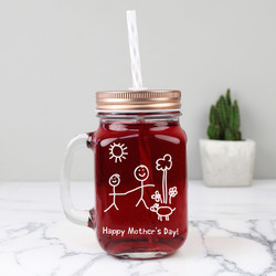 'Your Drawing' Mason Jar