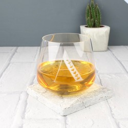 Engraved Initial Whisky Glass