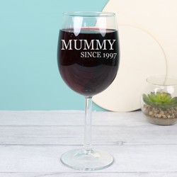 'Family Since' Wine Glass