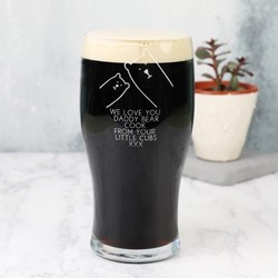 Personalised 'Daddy Bear' Engraved Pint Glass