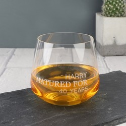 Personalised 'Matured For...' Whisky Glass