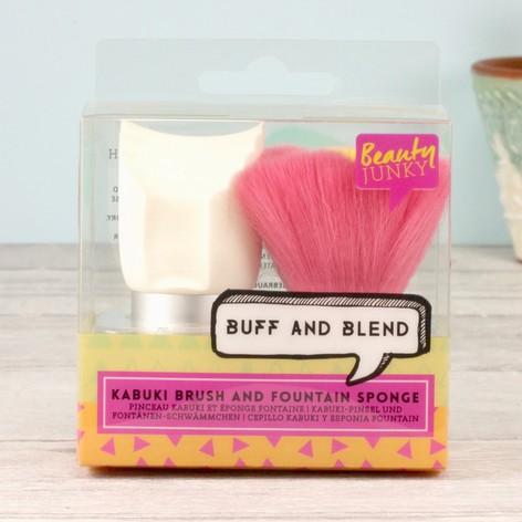 Beauty Junky Kabuki Brush and Fountain Sponge Duo