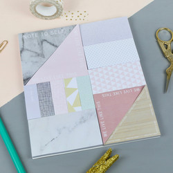 WLLT Pad of Patterned Sticky Notes